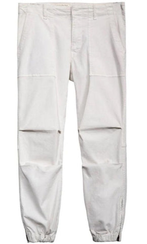Cropped Military Pant in Chalk