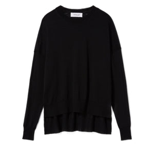 Mullholland Boxy Crewneck Sweater-Black