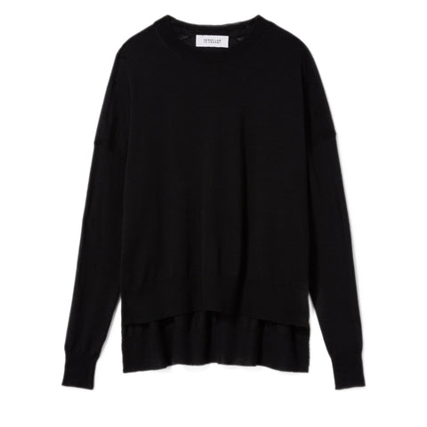 Mullholland Crewneck Sweater in Black