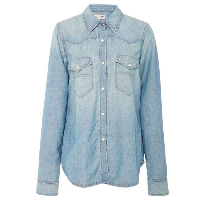 Owen Chambray Shirt in Sunset Wash