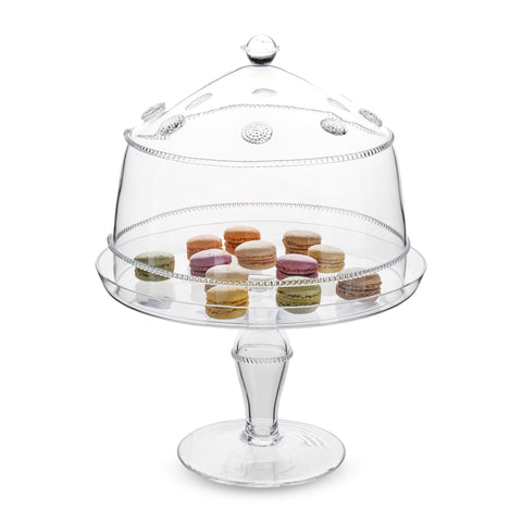 Isabella Large Glass Cake Dome + Pedestal Set