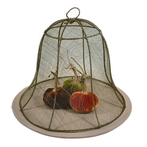 Large Linen Round Bell Food Cover Set