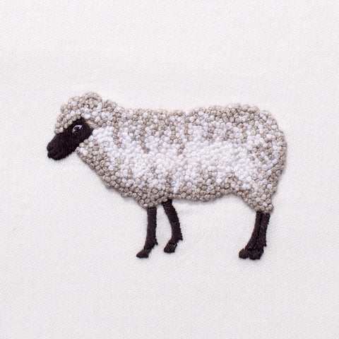 Embroidered Sheep Everyday Towel