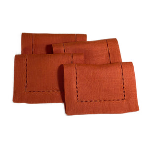 Festival Cocktail Napkin Set in Tangerine
