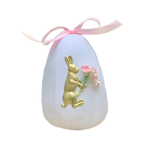 Deluxe Easter Surprise Egg in White + Pink