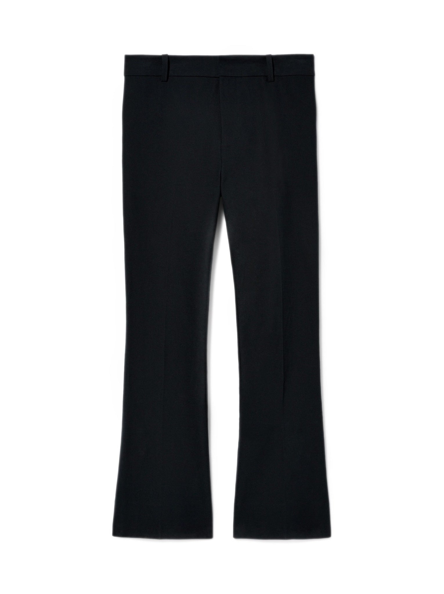 Crosby Cropped Flare Trouser in Midnight