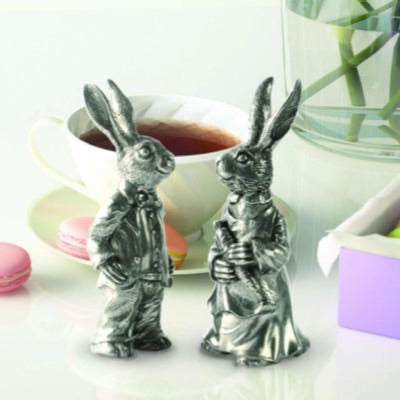 Dressed Up Rabbits Salt + Pepper Shaker Set