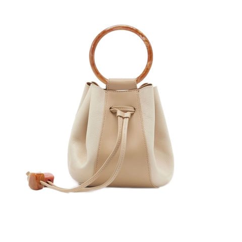 Palma Leather Mini in Bone