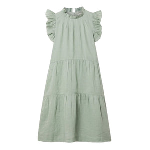 Lucy Tiered Tunic Dress in Seamoss