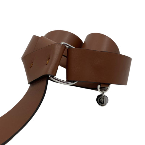 Italian Leather Belt in Caramel
