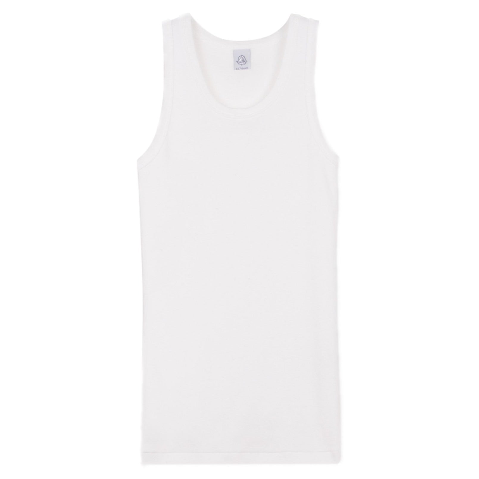 Crewneck Tank Top in White