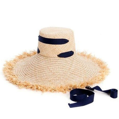 Alpargatas Raffia Hat in Navy