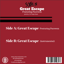 "Load image into Gallery viewer, Sixman - Great Escape 7"" Single"