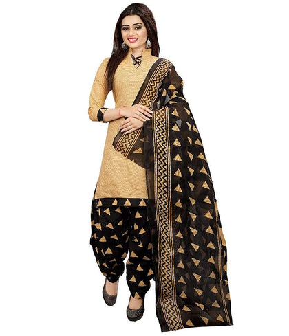Women's Cotton Printed Patiala Unstitched Salwar Suit Material with Dupatta - iZiffy.com