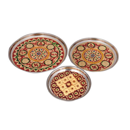 Pooja Plate Set of 3 - iZiffy.com