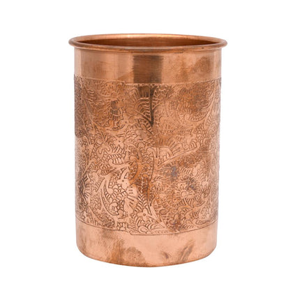 Round Heighted Copper Glass - iZiffy.com