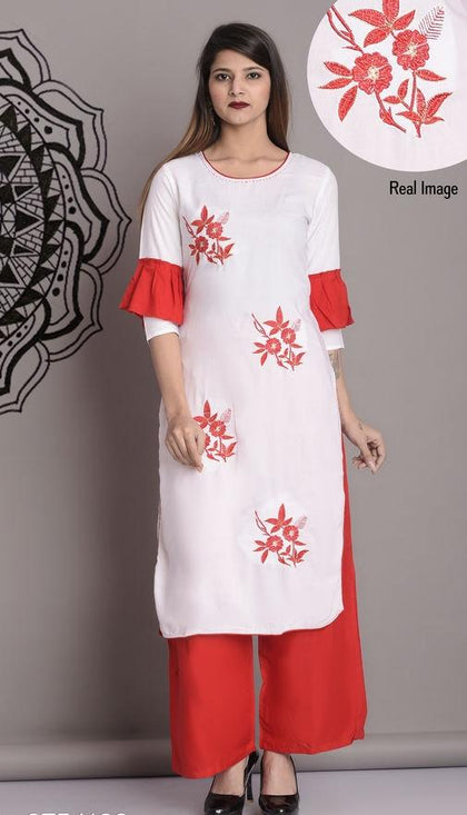 Beautiful Bandhani Print Indian Women Kurti With Palazoo - iZiffy.com