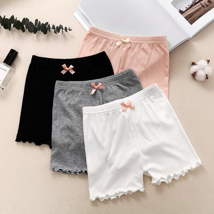 New Girls Shorts Modal Princess Bow Ruffle Children Saft Short Pants