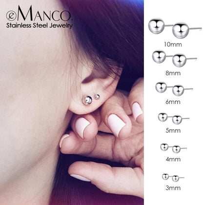 korean style stainless steel earrings for women Luxury rose gold color stud earrings