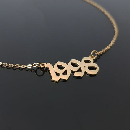 1985 To 2019 Number Date Of Birth Necklace Personalized Custom Jewelry