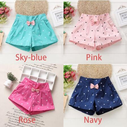 New Candy Color Baby girls shorts Print children shorts