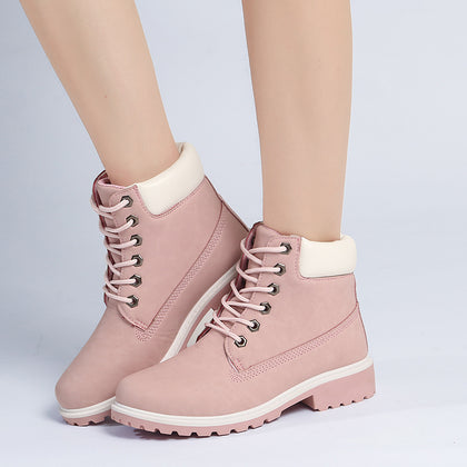 2019 Hot New Autumn Early Winter Shoes Women Flat Heel Boots