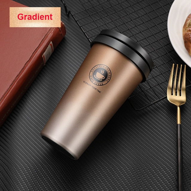 500ML Coffee Mug Creative 304 Stainless Steel Double Wall Vacuum Insulated