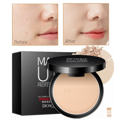 Matte Pressed Powder Makeup Concealer Oil-control Face Setting Foundation Powder