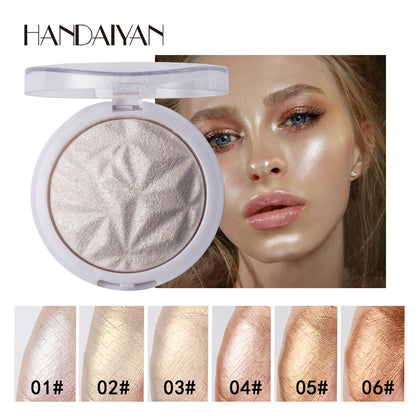 6 Color Highlighter Facial Bronzers Palette Makeup Glow Face Cosmetics