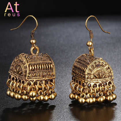 Gypsy Afghan Jewelry Retro Ethnic Silver Indian Jhumka