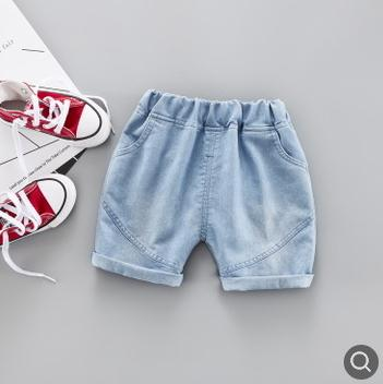 5/10 Length Kids Pants Children's Denim Shorts
