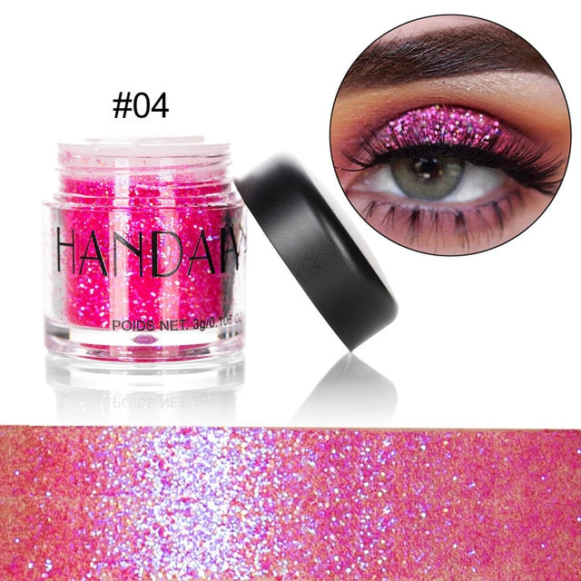 Professional Makeup Women 10 Colors Glitter Eyeshadow Powder Diamond Lips Loose Eyes Highly Pigment Shimmering Metallic Cosmetic