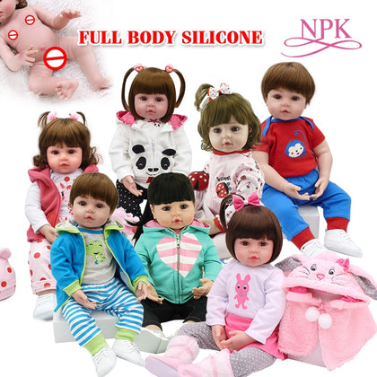 Toy Full body silicone water proof bath toy popular hot selling reborn toddler baby dolls bebe doll reborn lifelike soft touch