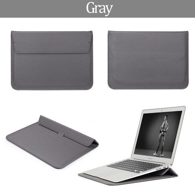 Leather Mail sack Sleeve Bag For MacBook New Air 13 A1932 For Mac Book Air 13 A1466 A1369 Pro Retina New Pro 13 15 Laptop Case