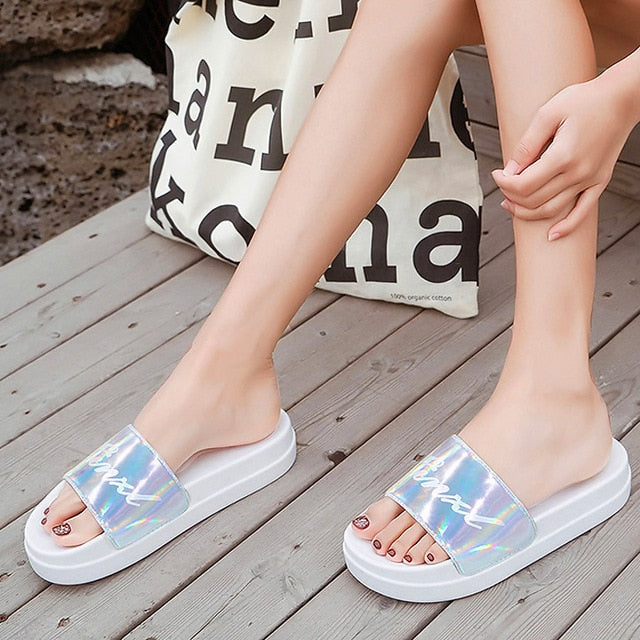 Rhinestone Women Slippers Summer Slides Women Flip Flops