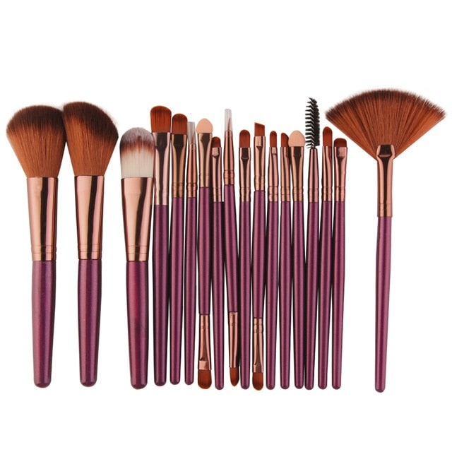 18/15pcs Makeup Set Profesional Foundation Blusher Brushes