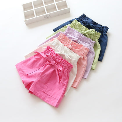 Baby Girl Shorts Kid Short Pants Casual Pants Solide Lace Shorts
