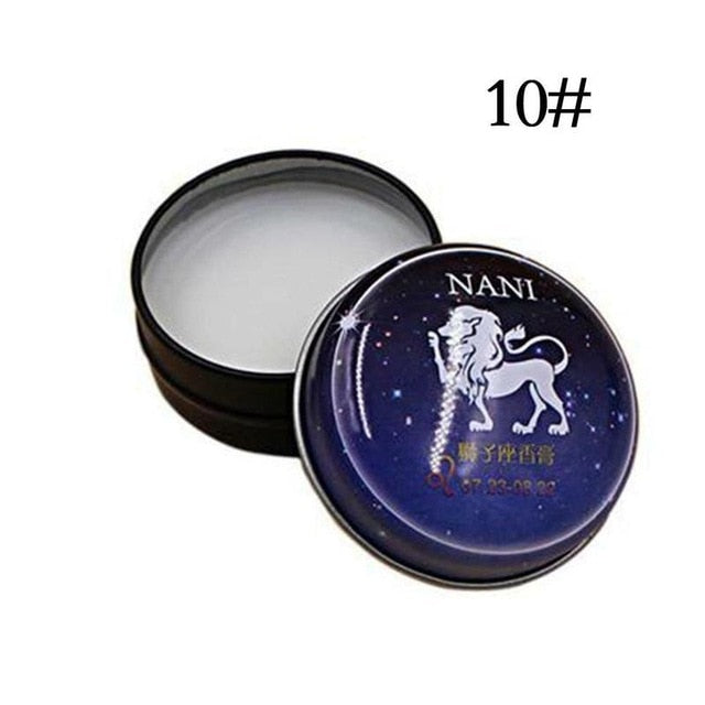 Universal 12 Constellation Solid Perfume Portable Skin Care Balm Deodorants