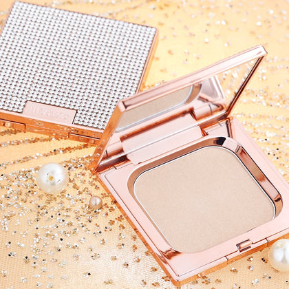 Shinny Diamond Soft Translucent Compact Pressed Powder for Face