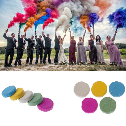 Colorful Magic Smoke Tricks Props Fire Tips Fun Toy Pyrotechnics Smoke Cake Fog Magician New Professional Pocket items