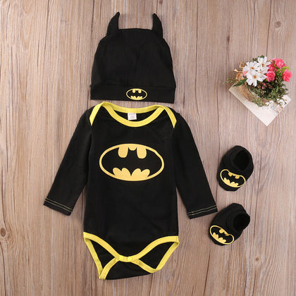 Pudcoco Fashion Boy Jumpsuits Newborn Baby Boy Girl Clothes 3 Pcs