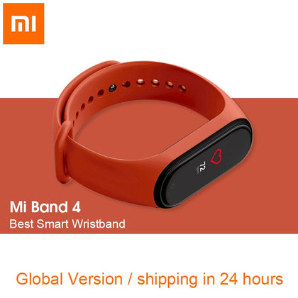 In Stock Original Xiaomi Mi Band 4 Smart Wristband Miband 4 Global Version Bracelet OLED Screen 50M Waterproof Band4 Watch Track