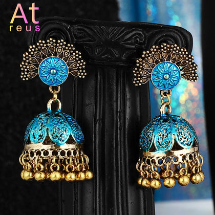 Gypsy Jewelry Retro Ethnic Silver Indian Jhumka