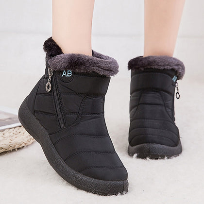 Ankle Boots For Women Boots Fur Warm Snow Boots Female Winter Shoes