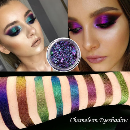 0.2g Hot Chameleon Pigment Chameleon Eyeshadow Multi Chrome Eyeshadow Prismatic Powder SKY BORN Shiny Glitter Eyeshadow Palette