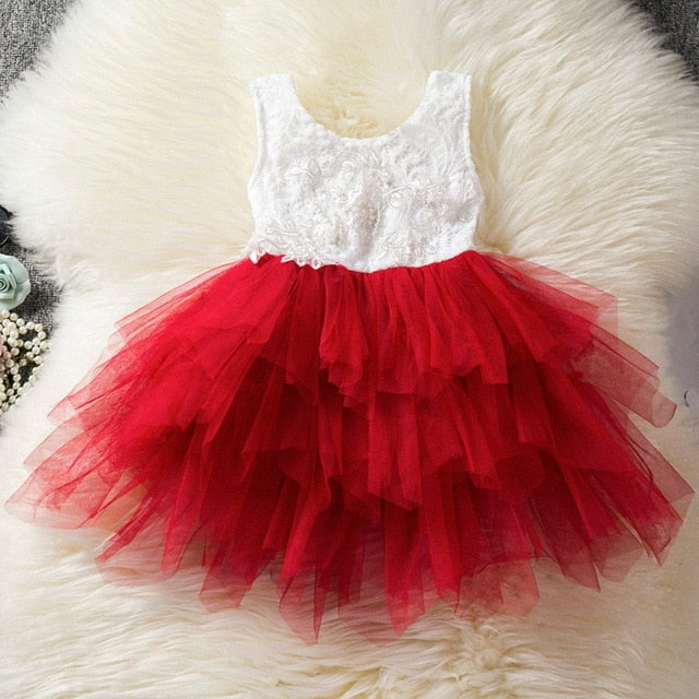 Princess Kids Baby Fancy Wedding Dress Sequins Formal Party Dress
