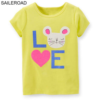 SAILEROAD 1-6Years Cartoon Animal Rabbit Baby Newborn Girls Tops