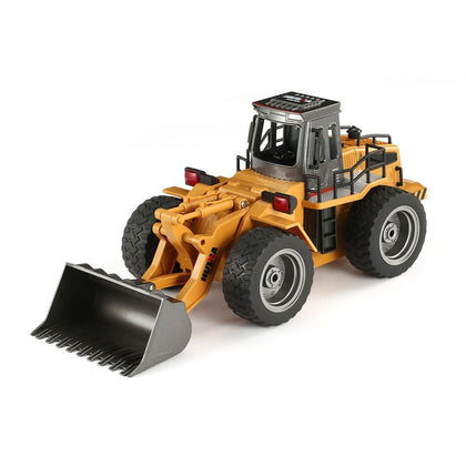 hot HUINA 1520 RC Metal Bulldozer 6CH 1/18 2.4GHz RTR Front Loader Engineering Toy Remote Control Construction Tractork Vehicle