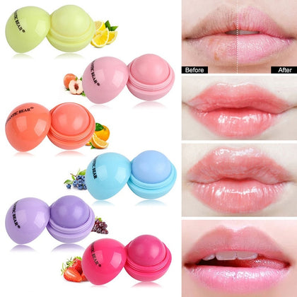 Natural Vaseline Lip Balm Cute Makeup Long Lasting  Moisturizing Lips Balm Cosmetics Ball Shaped Lip Balm Lot Color Changing