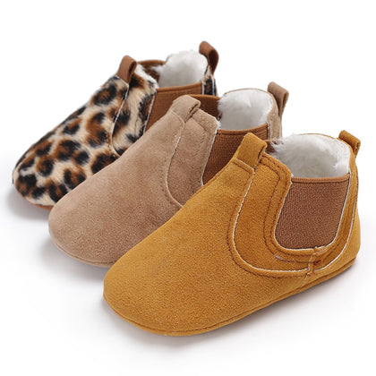 Autumn Baby Toddler Leopard PU Leather Shoes Newborn baby girl first walker sneakers